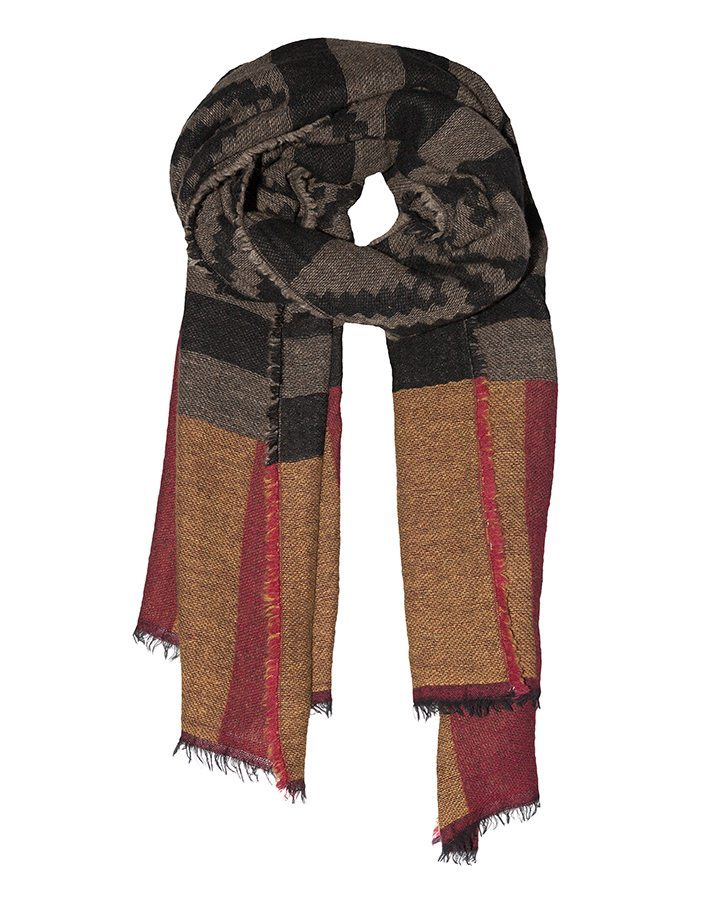 LOVAT&GREEN Navajo Red wool scarf
