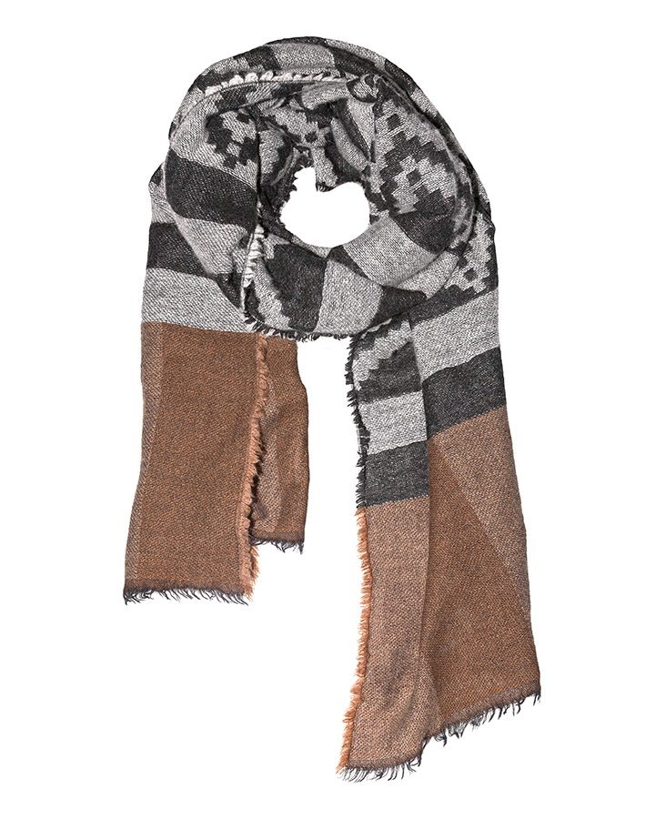 LOVAT&GREEN Navajo Brown wool scarf