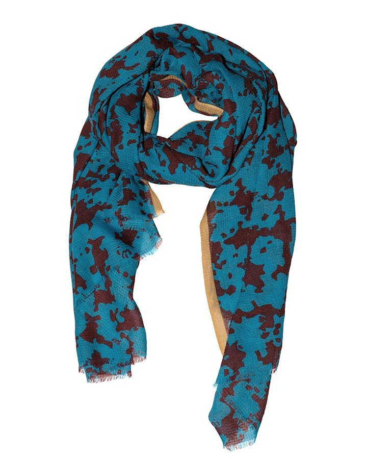 LOVAT&GREEN Stains Turquoise wool scarf