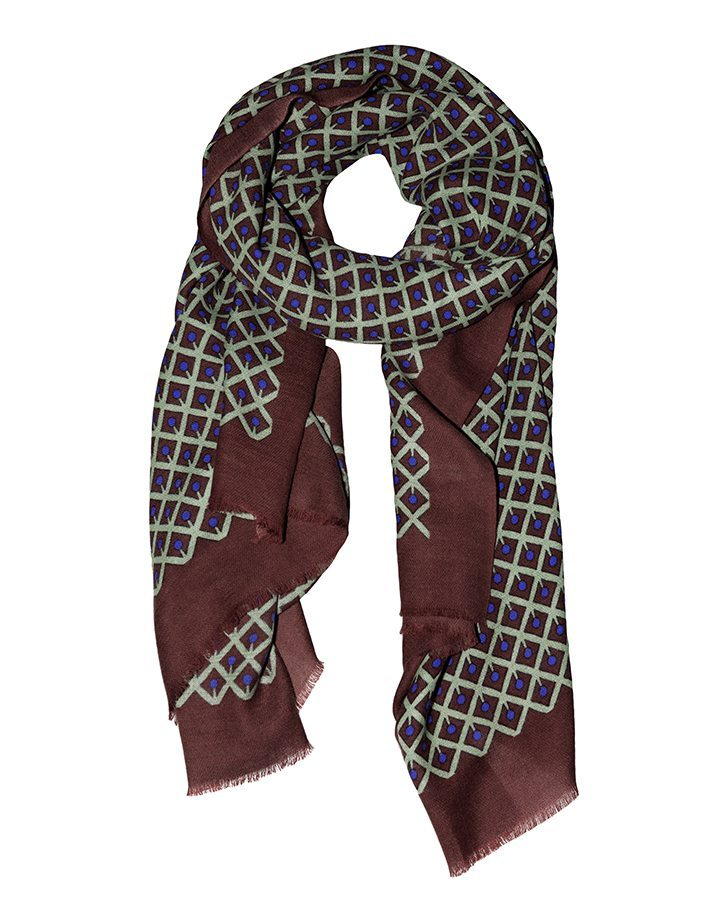 LOVAT&GREEN Cherry Brown wool scarf