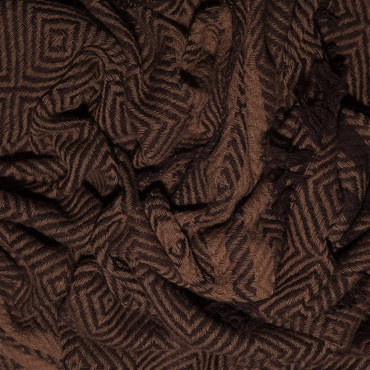 LOVAT&GREEN Mosaique Brown wool scarf