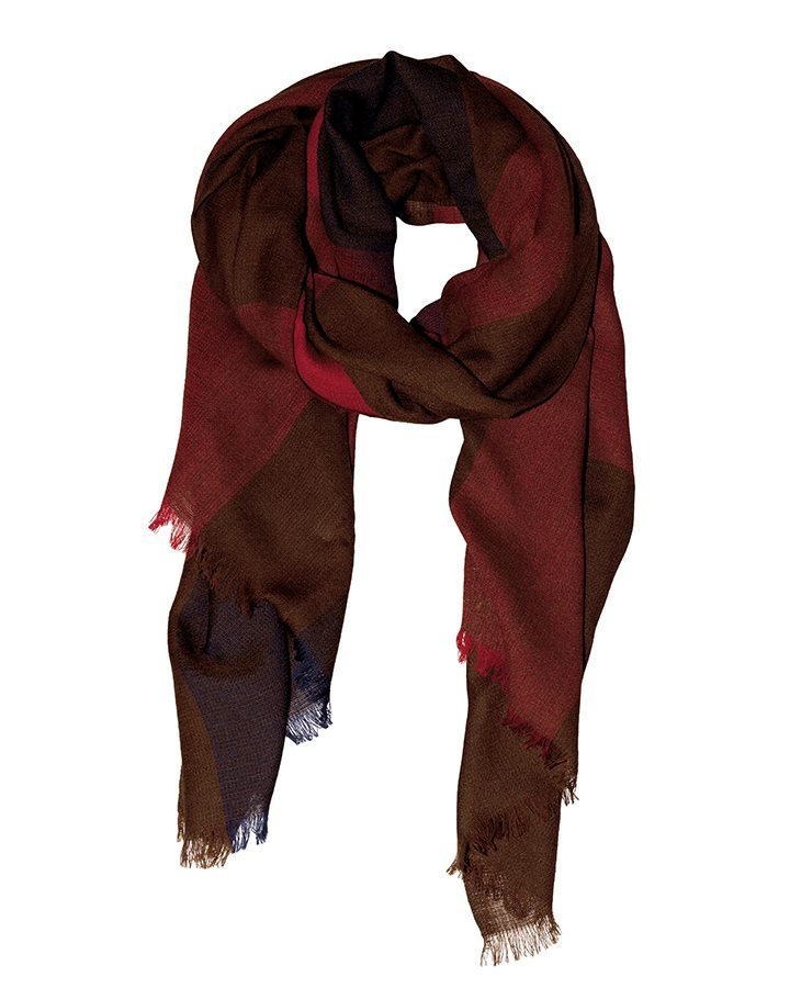 LOVAT&GREEN Square Red wool scarf