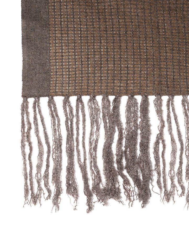 LOVAT&GREEN Fringes Brown wool scarf