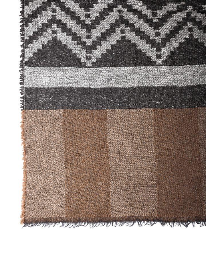 LOVAT&GREEN Navajo Brown wool scarf