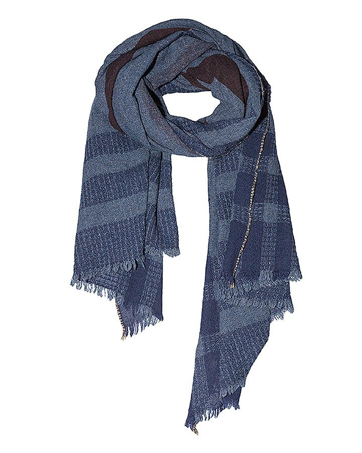 LOVAT&GREEN Blanket Navy wool scarf