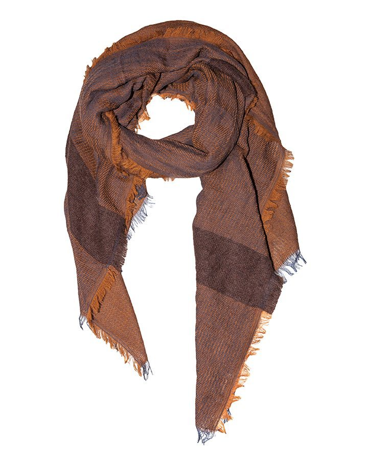 LOVAT&GREEN Mohair Brown wool scarf