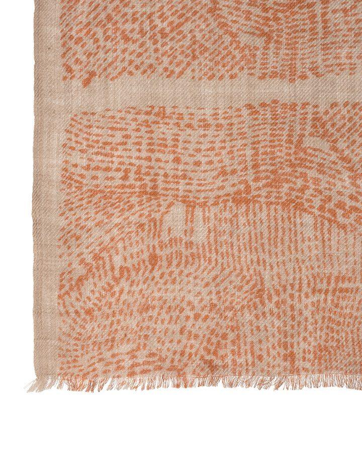 LOVAT&GREEN Naïf Orange wool scarf