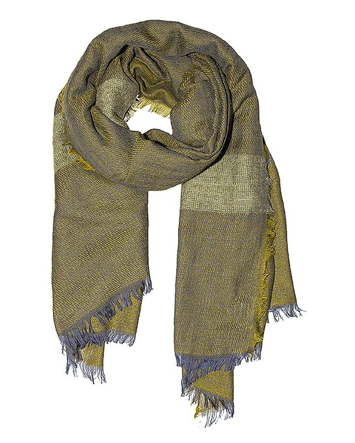 LOVAT&GREEN Mohair Olive wool scarf