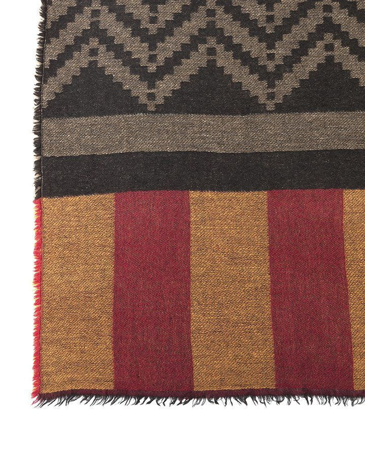 LOVAT&GREEN Navajo Red wool scarf