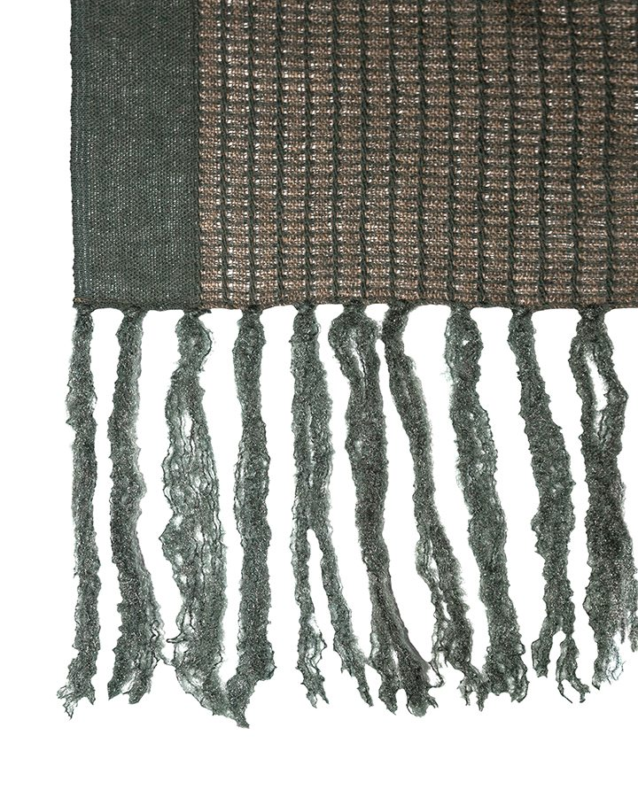 LOVAT&GREEN Fringes Green wool scarf
