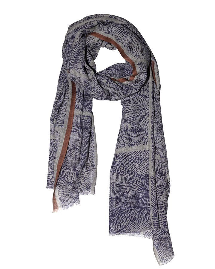 LOVAT&GREEN Naïf Blue wool scarf