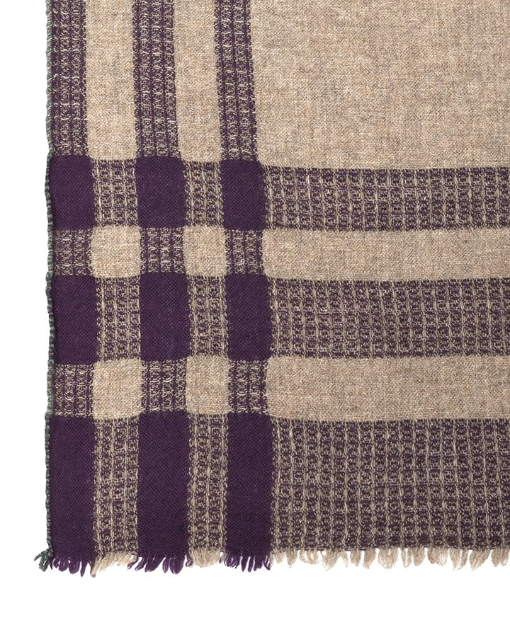 LOVAT&GREEN Blanket Natural wool scarf