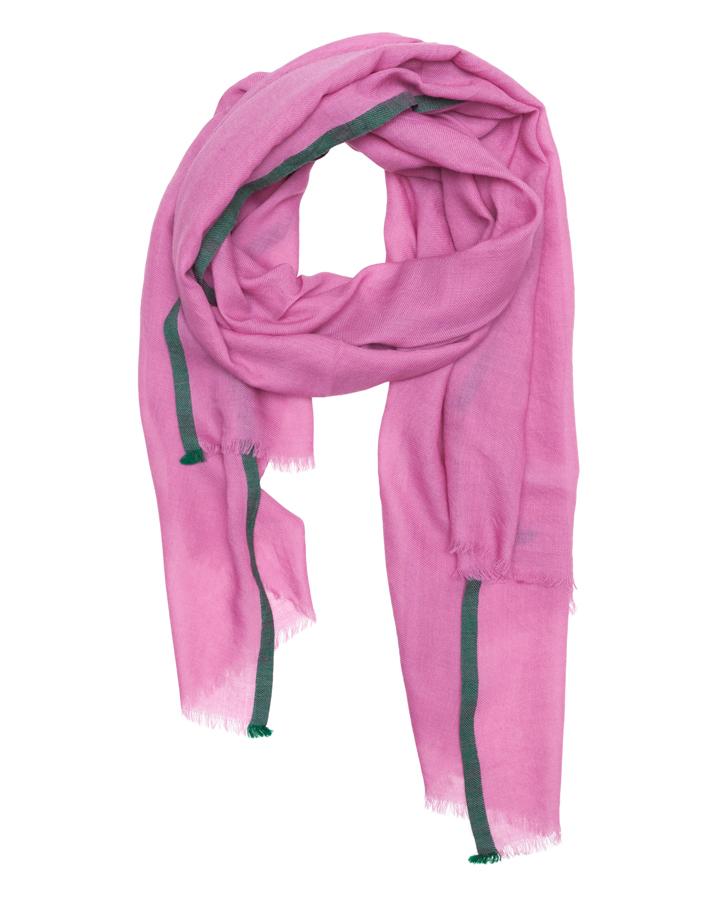 LOVAT&GREEN Plain Pink wool scarf