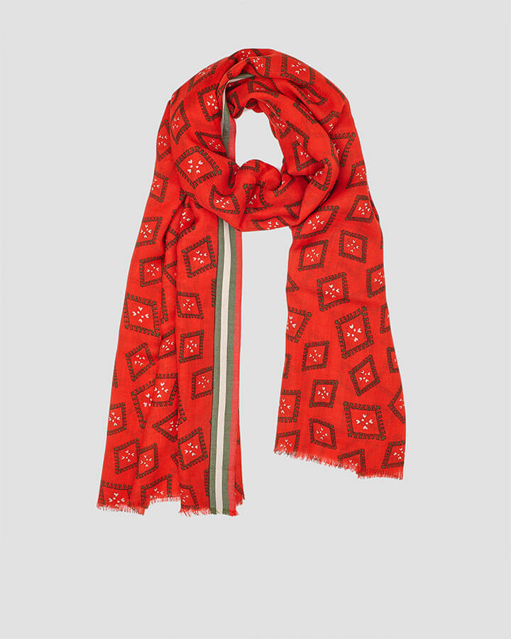 PICTURES RED SCARF by LOVAT&GREEN