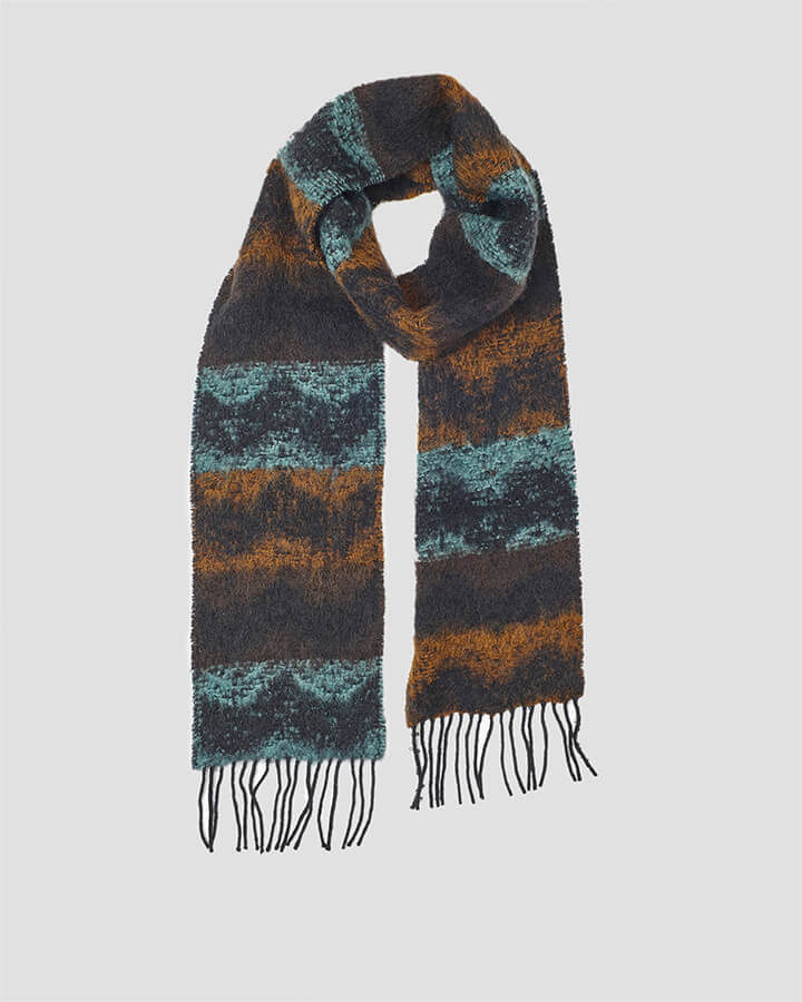 WAVES TURQUOISE SCARF by LOVAT&GREEN