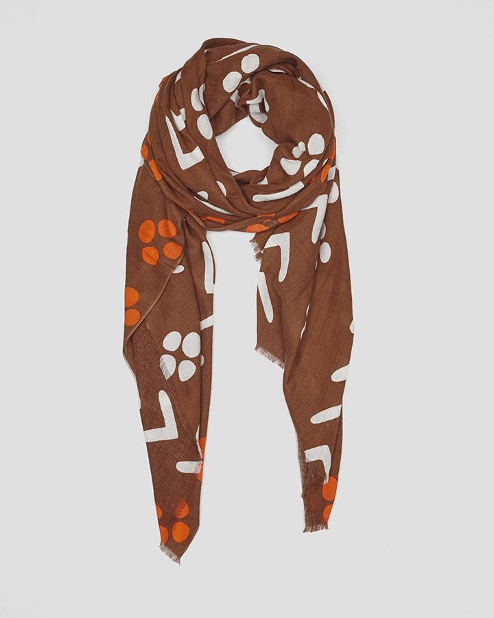 ABORIGEN BROWN SCARF by LOVAT&GREEN