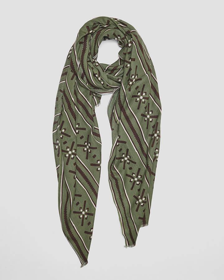 AZTECA GREEN SCARF by LOVAT&GREEN