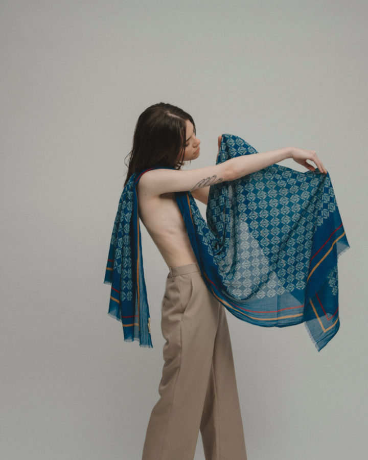 CELLS BLUE SCARF by LOVAT&GREEN