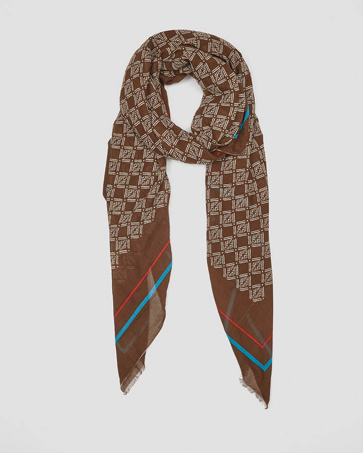 CELLS BROWN SCARF by LOVAT&GREEN