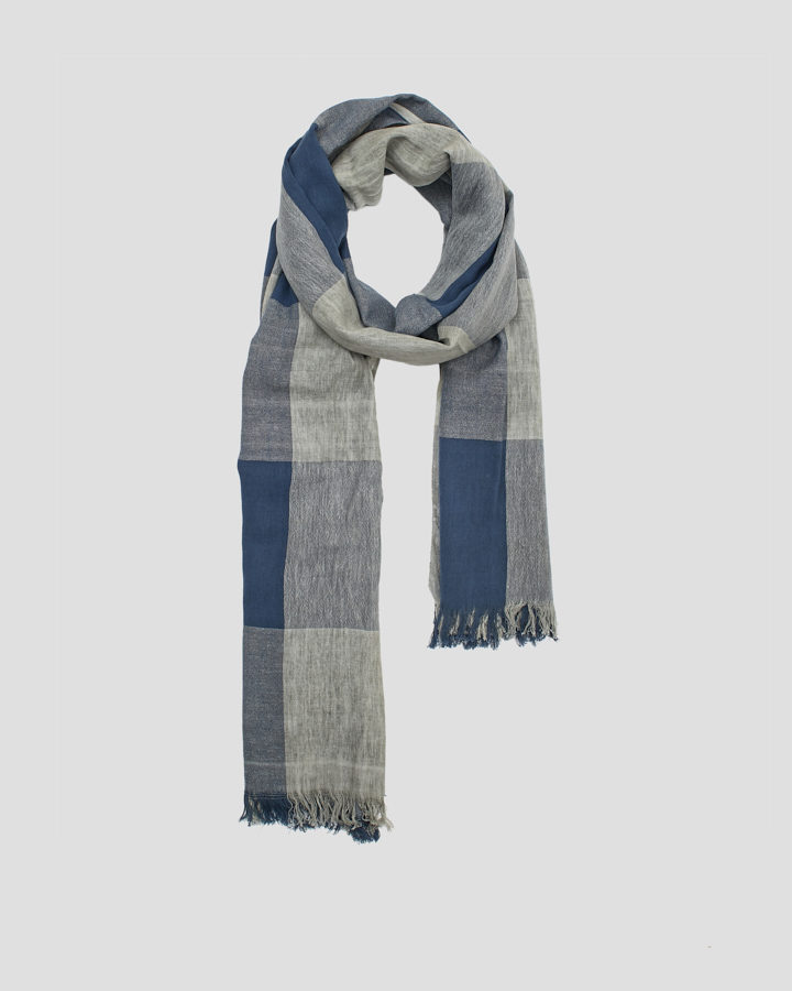 CHESS BLUE SCARF by LOVAT&GREEN
