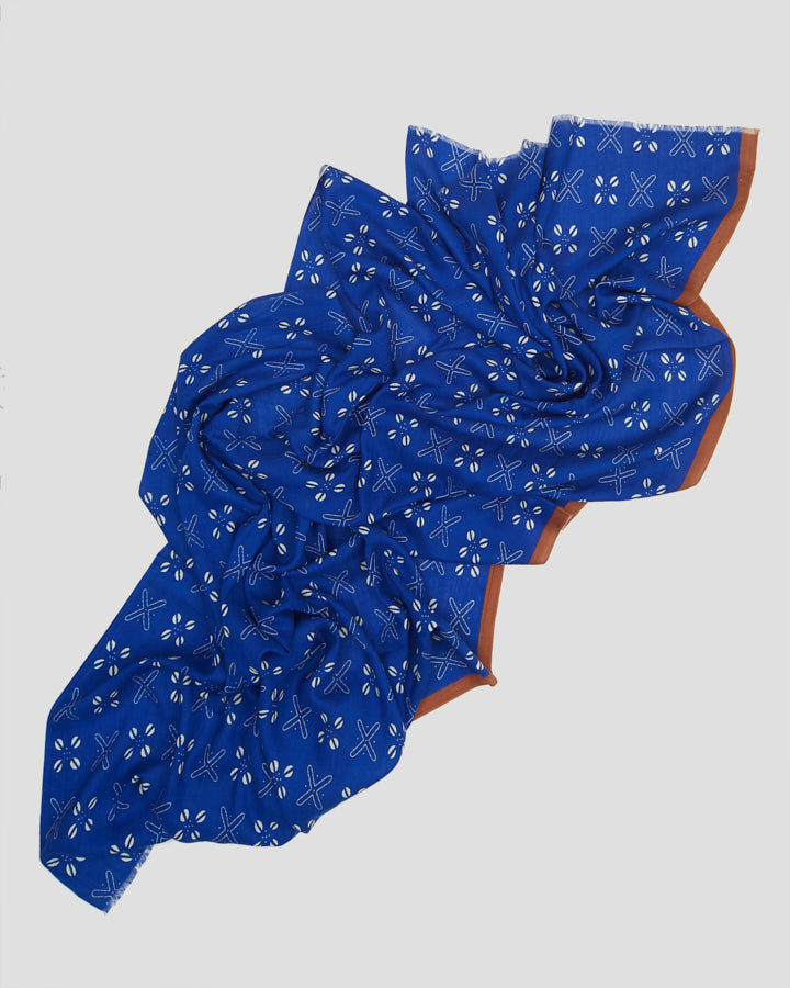 COFFEE BEANS BLUE SCARF by LOVAT&GREEN