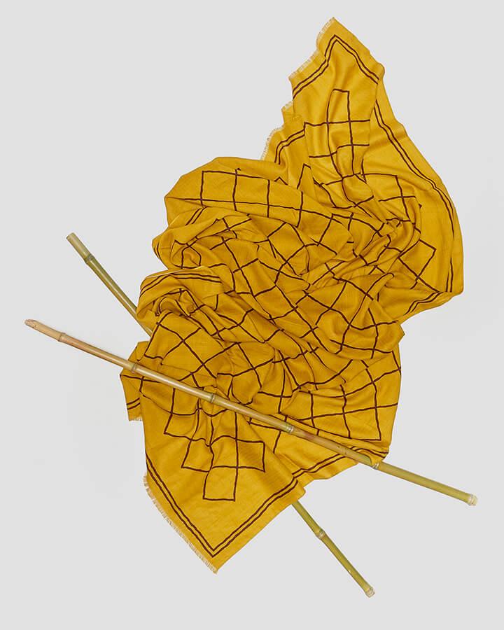 DIAMONDS MUSTARD SCARF by LOVAT&GREEN