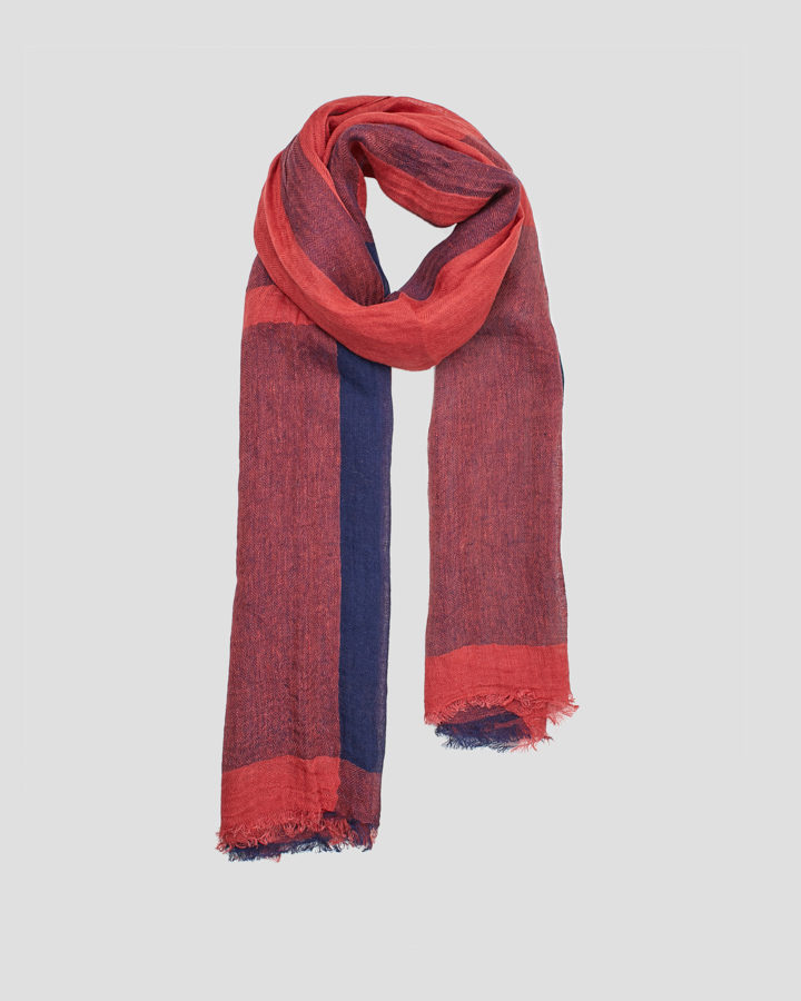 FABRIC RED SCARF by LOVAT&GREEN