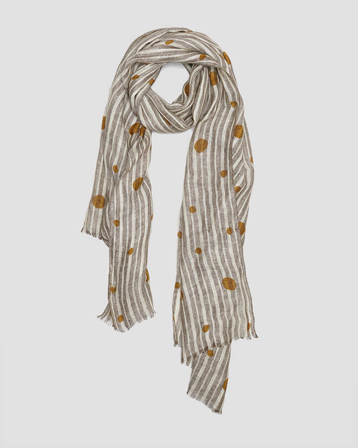 FLAKES GOLD SCARF by LOVAT&GREEN