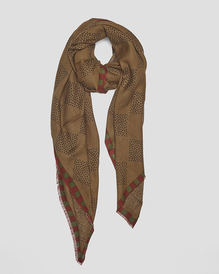 MOTES BROWN SCARF by LOVAT&GREEN