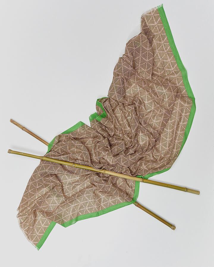 TRIANGLES BEIGE SCARF by LOVAT&GREEN