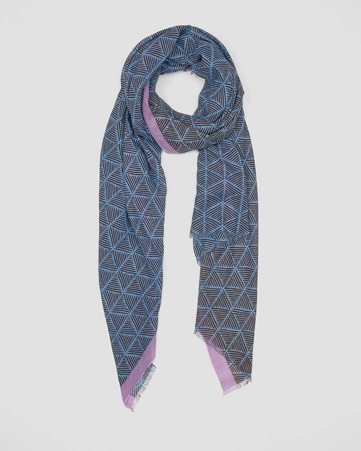 TRIANGLES SKY SCARF by LOVAT&GREEN