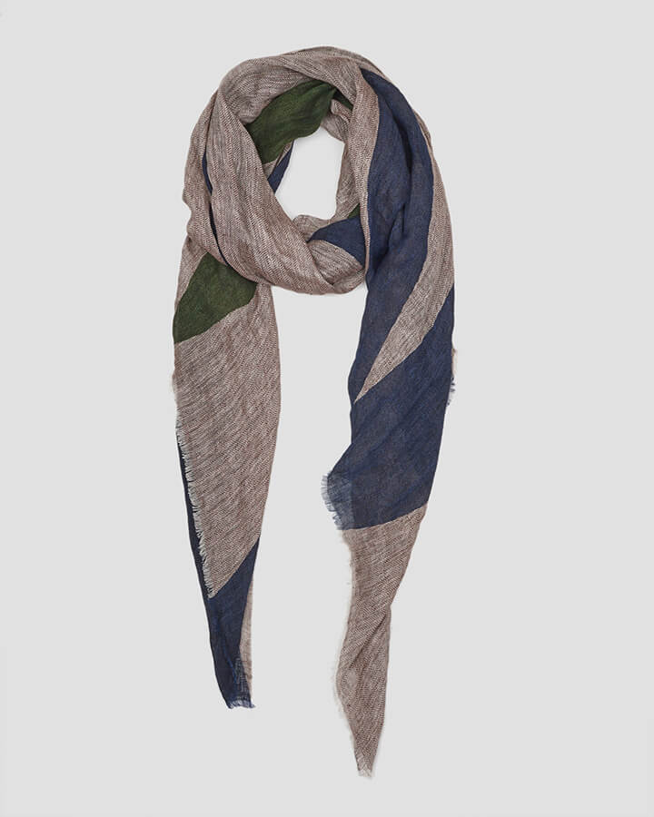 VICTORY NAVY SCARF by LOVAT&GREEN