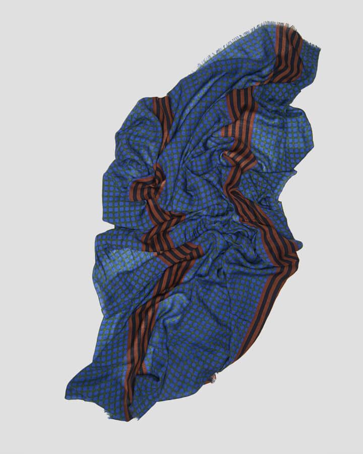 BERLIN ROYAL BLUE SCARF by LOVAT&GREEN
