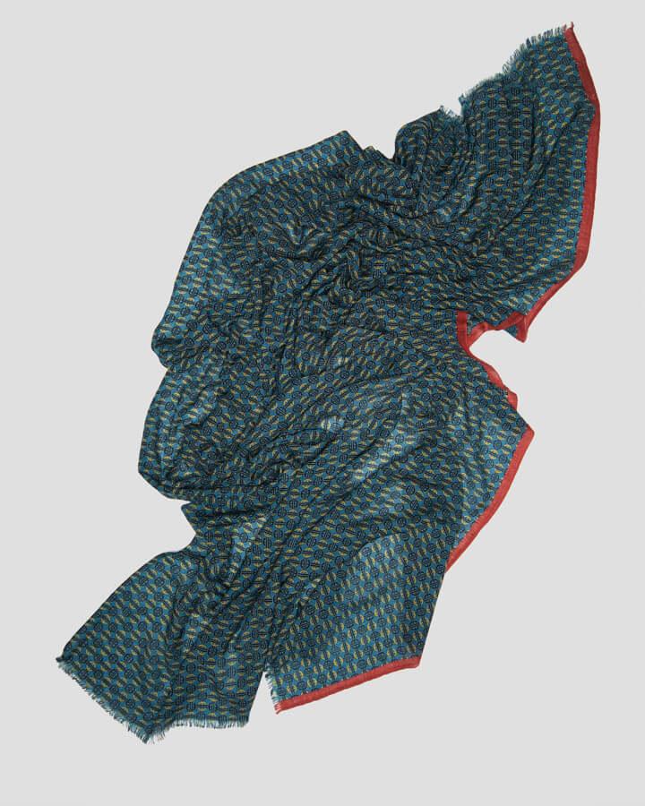 BOURDEAUX PETROL SCARF by LOVAT&GREEN