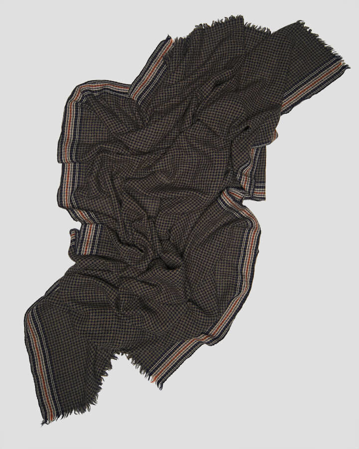 ROME NAVY SCARF by LOVAT&GREEN