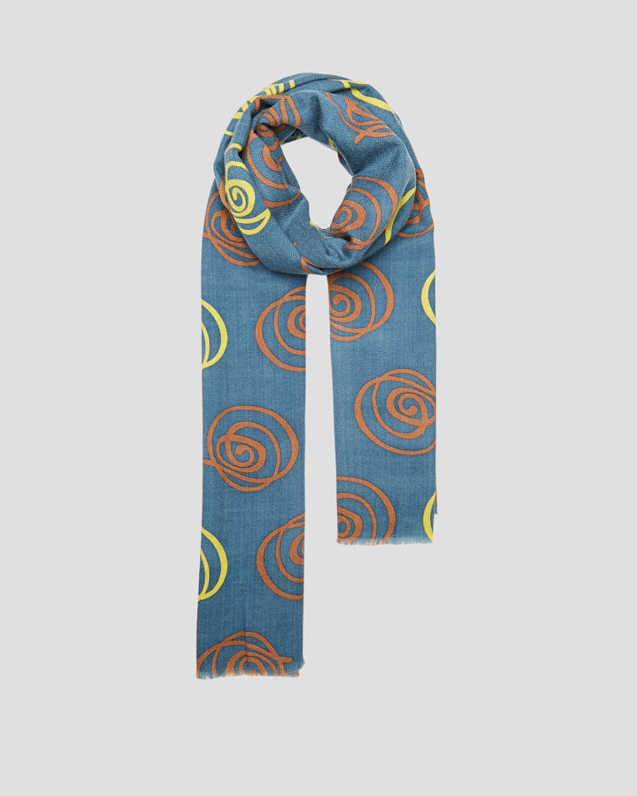 ROSES PETROL SCARF by LOVAT&GREEN